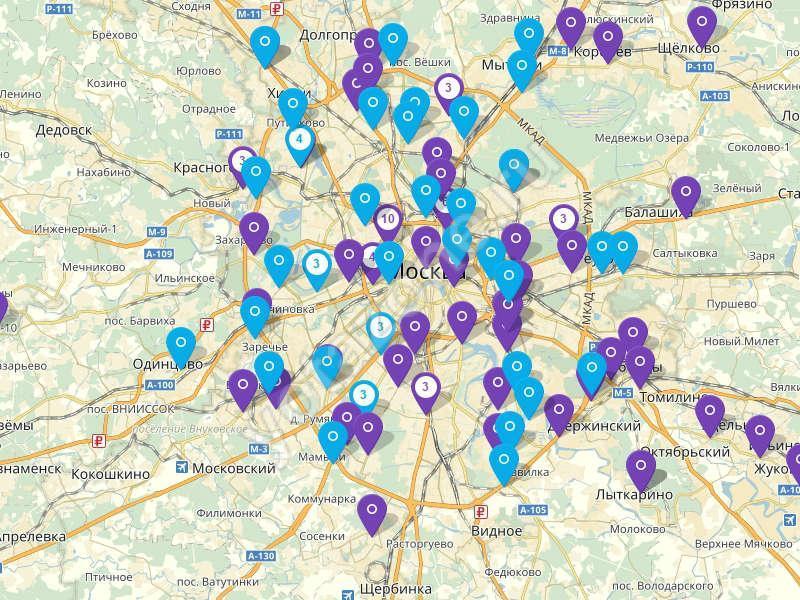 Адреса салонов связи в Московской области
