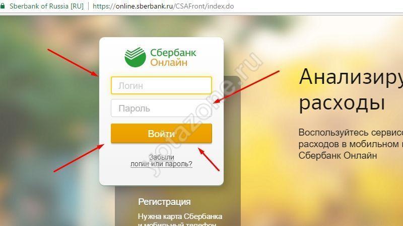 Авторизация сбербанк онлайн