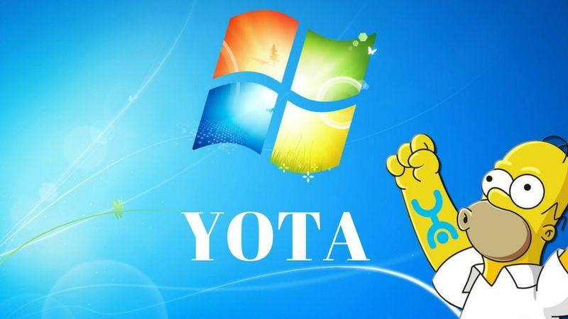 Скачать Yota на компьютер Виндовс 7, 8, 10 бесплатно